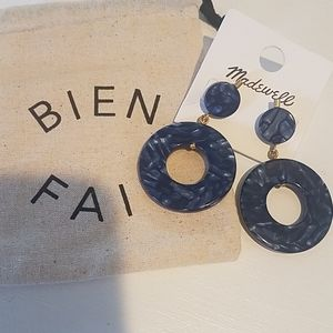 Madewell Earrings blue